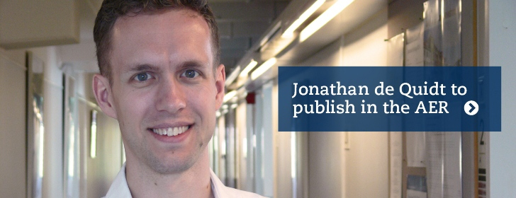 Jonathan de Quidt publishes in AER