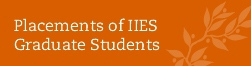 Placements of IIES Grad Students Long