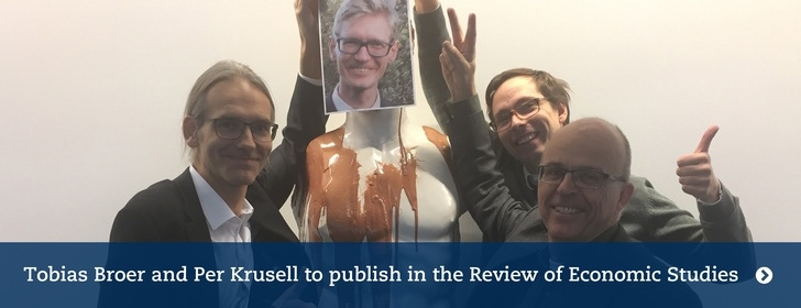 Tobias Broer and Per Krusell to publish in Review of Economic Studies