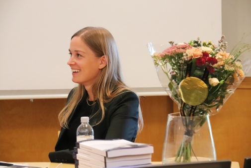 Karin Kinnerud at her defense