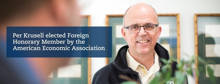Professor Per Krusell elected Foreign Honorary Member by the American Economic Association